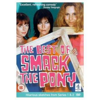 Smack the Pony - The Best of Smack the Pony DVD cover, featuring (left to right) Doon Mackichan, Fiona Allen and Sally Phillips.