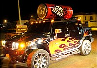 Sting Energy Drink's Hummer traveling down the streets of Karachi, Pakistan