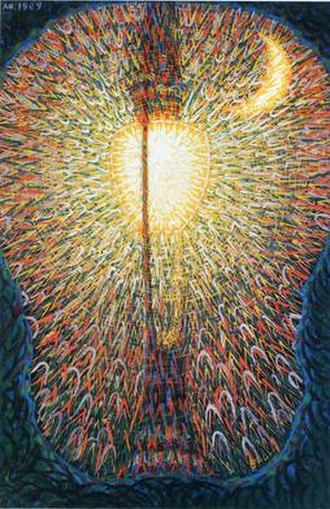 Street Light (painting) - Image: Street Light Giacomo Balla 1909
