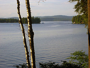 Lake Sunapee - A view between Great Island and Little Island
