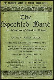 the speckled band by sir arthur conan doyle essay Discussion of themes and motifs in sir arthur conan doyle's the adventure of the speckled band enotes critical analyses help you gain a deeper understanding of the.