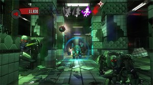 The Shoot - Gameplay of one level in The Shoot where players face off against robot enemies