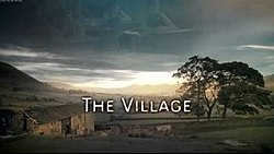 Series title over a view of the village