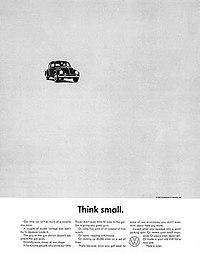 Lemon Vw Ad >> Think Small - Wikipedia