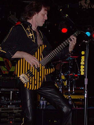 Tim Gaines - Gaines, live with Stryper, in Clifton Park, New York on September 12, 2009