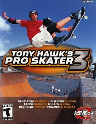 Tony Hawk's Pro Skater 3 - Image: Tony Hawk's Pro Skater 3 Coverart