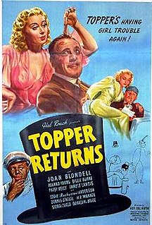 <i>Topper Returns</i> 1941 film by Roy Del Ruth
