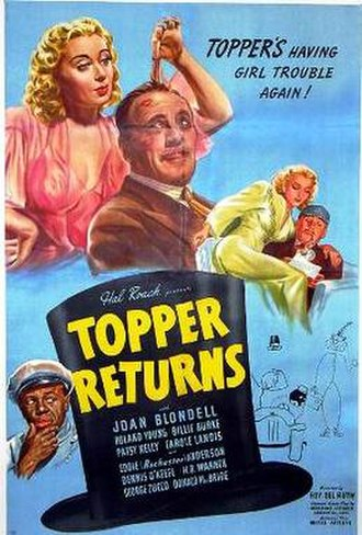 Topper Returns - theatrical release poster