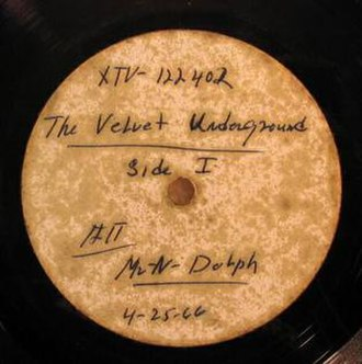 The Velvet Underground & Nico - Label of the Norman Dolph acetate