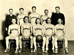 Josh Cody - The 1927 SoCon tournament champion Vanderbilt basketball team. Cody is top right.