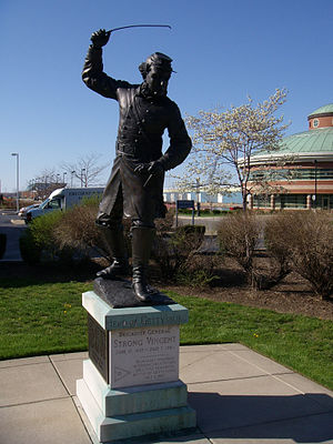 Strong Vincent - Statue at Blasco Library in Erie, Pennsylvania