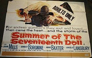 "Summer of the Seventeenth Doll (film) - Image: ""Summer of the Seventeenth Doll (1959)"