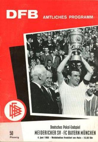 1966 DFB-Pokal Final - Image: 1966 DFB Pokal Final programme