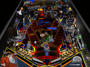 Addiction Pinball - World Rally Fever is the default pinball table in Addiction Pinball.