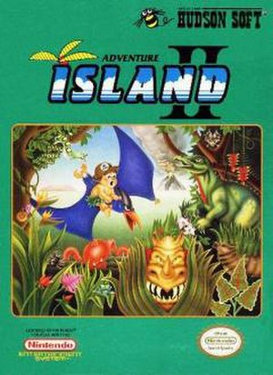 Adventure Island II - North American cover artwork.