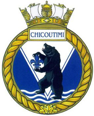 HMCS Chicoutimi (SSK 879) - Image: Badge of HMCS Chicoutimi (SSK 879)