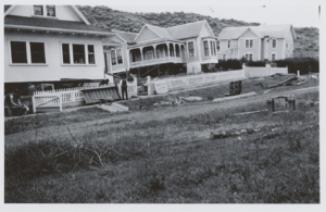 Bolinas, California - Earthquake-damaged homes along Brighton Avenue, Bolinas, 1906