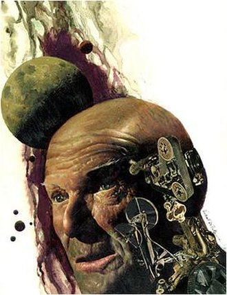 Vincent Di Fate - Cover art for Broke Down Engine (and Other Troubles with Machines)  by Ron Goulart, 1969