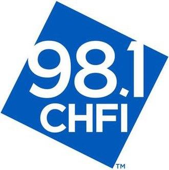 CHFI-FM - Image: CHFI 98.1CHFI logo