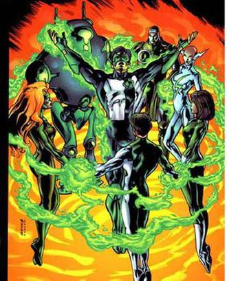 Green Lantern: Circle of Fire - The Circle of Fire: Kyle Rayner, Alexandra DeWitt, Pel Tavin, Ali Rayner-West,Hunter and Forest Rayner, and G.L.7177.6