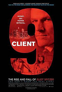 <i>Client 9: The Rise and Fall of Eliot Spitzer</i> 2010 American film