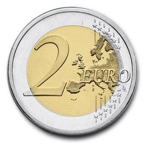 Euro coins - Image: Common face of two euro coin
