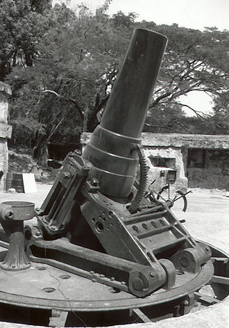 Battle of Corregidor - Mortars at Corregidor's Battery Way could be rotated to fire in any direction
