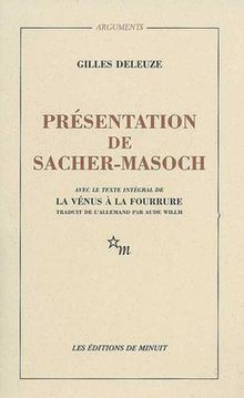 Cover of Masochism, Coldness and Cruelty (French edition).jpeg