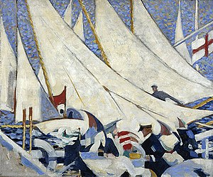 Scottish Renaissance - Stanley Cursiter Regatta, (1913)