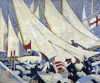 Scottish Renaissance - Stanley Cursiter, Regatta, (1913)