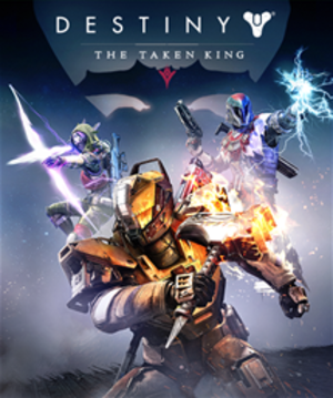Destiny: The Taken King - Cover art featuring the three new subclasses and a silhouette of Oryx.