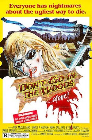 Don't Go in the Woods (1981 film) - Image: Dontgointhewoodspost er