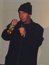 Stanhope on stage at Charlies, Manchester, England, October 2006