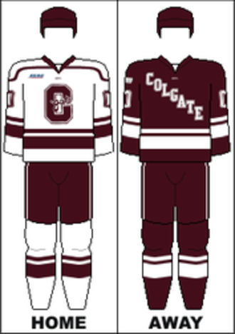 Colgate Raiders men's ice hockey - Image: ECAC Uniform Colgate