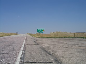 U.S. Route 20 - US 20 enters Nebraska from Wyoming