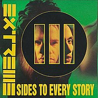 "Album cover of III Sides to Every Story (1992), the band's last album recorded with the ""classic"" line-up."