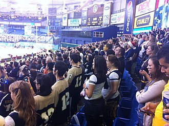 FIU Panthers football - Panther fans at the 2011 Beef 'O' Brady's Bowl in Saint Petersburg, Florida.