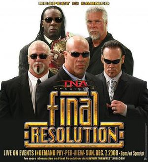 Final Resolution (December 2008) - Promotional poster featuring The Main Event Mafia