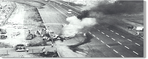 1964 World 600 - The dangerous crash that hospitalized Fireball Roberts before he died of pneumonia 6 weeks later.