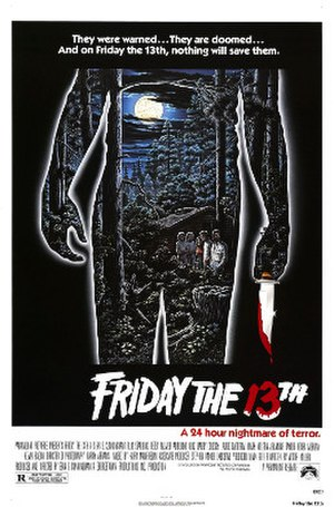 Slasher film - Movie poster for Friday the 13th (1980)