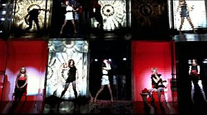 "The Loving Kind - Girls Aloud in the music video for ""The Loving Kind"" (2008)."