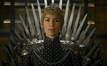Cersei Lannister in her gown and crown