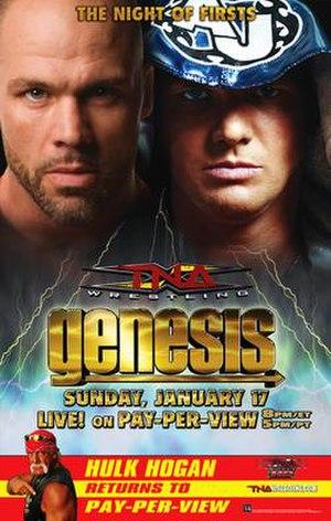 Genesis (2010) - Promotional poster featuring (clockwise) Kurt Angle, A.J. Styles, and Hulk Hogan
