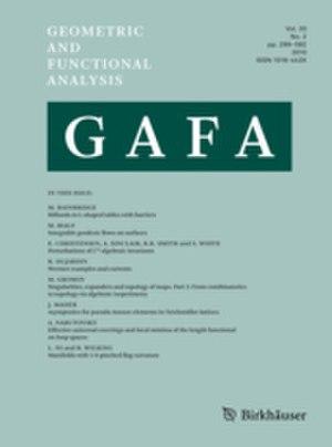 Geometric and Functional Analysis - Image: Geometric and Functional Analysis (journal)