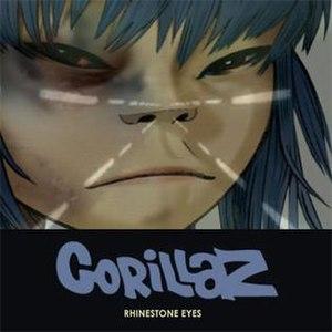 Rhinestone Eyes - Image: Gorillazrhinestoneey es