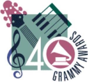 40th Annual Grammy Awards - Image: Grammylogo 40