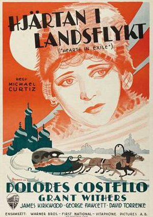 Hearts in Exile (1929 film) - 1929 Swedish release poster
