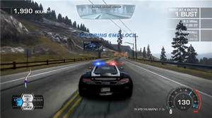 Need for Speed: Hot Pursuit (2010 video game) - Hot Pursuit allows players to control police vehicles and participate in high-speed pursuits, a feature absent from the series since 2002.