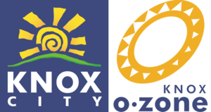 Westfield Knox - Former logo of Knox City Shopping Centre, and the logo for the Knox-O-Zone.