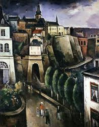 Joseph Kutter - Luxembourg, one of two paintings that Kutter was commissioned to paint for the 1937 World Exhibition in Paris